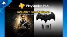 Jogos gratuitos do mês de janeiro de 2018 na PSN Plus